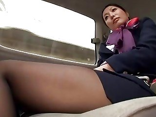 Tongues japanese air hostess..